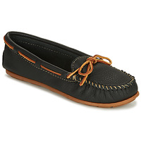 Schuhe Damen Slipper Minnetonka BOAT MOC Schwarz