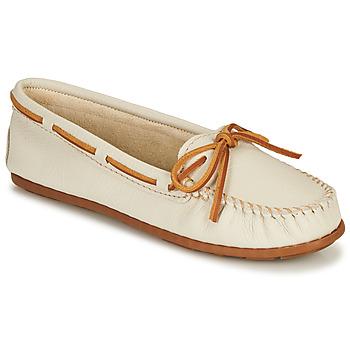 Schuhe Damen Slipper Minnetonka BOAT MOC Weiss