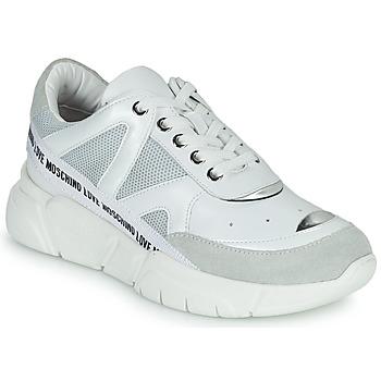 Schuhe Damen Sneaker Low Love Moschino JA15323G1C Weiss
