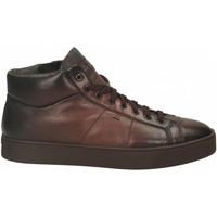 Schuhe Herren Sneaker High Santoni POLAC.8OCC. ZIP BASKET cioccolato