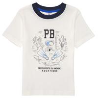 Kleidung Jungen T-Shirts Petit Bateau MARCO Weiss