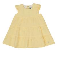 Kleidung Mädchen Kurze Kleider Petit Bateau MERINGUE Gelb