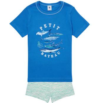 Kleidung Jungen Pyjamas/ Nachthemden Petit Bateau MAYONNAISE Multicolor