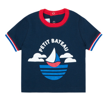 Kleidung Jungen T-Shirts Petit Bateau MENU Marine