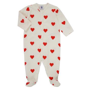 Kleidung Mädchen Pyjamas/ Nachthemden Petit Bateau MESCOEURS Weiss
