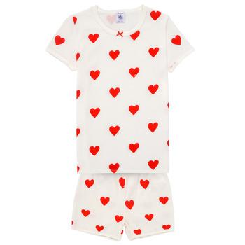 Kleidung Mädchen Pyjamas/ Nachthemden Petit Bateau MICOURT Multicolor