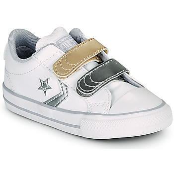 Schuhe Mädchen Sneaker Low Converse STAR PLAYER 2V METALLIC LEATHER OX Weiss