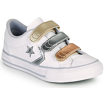 Schuhe Mädchen Sneaker Low Converse STAR PLAYER 3V METALLIC LEATHER OX Weiss