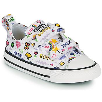 Schuhe Mädchen Sneaker Low Converse CHUCK TAYLOR ALL STAR 2V GIRLS GAMER OX Weiss / Multifarben