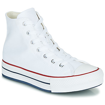 Schuhe Mädchen Sneaker High Converse CHUCK TAYLOR ALL STAR EVA LIFT CANVAS COLOR HI Weiss