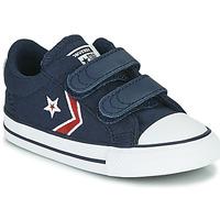 Schuhe Jungen Sneaker Low Converse STAR PLAYER 2V TEXTILE DISTORT OX Blau / Rot
