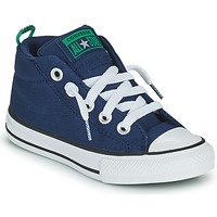 Schuhe Kinder Sneaker High Converse CHUCK TAYLOR ALL STAR STREET CANVAS COLOR MID Blau