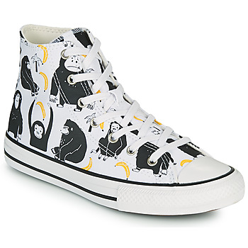 Schuhe Kinder Sneaker High Converse CHUCK TAYLOR ALL STAR GOING BANANAS HI Weiss / Multicolor