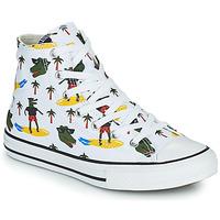 Schuhe Jungen Sneaker High Converse CHUCK TAYLOR ALL STAR CROCO SURF HI Weiss / Grün