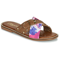 Schuhe Damen Pantoffel Kaporal EMILI Braun / Multicolor