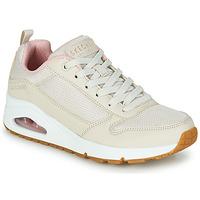 Schuhe Damen Sneaker Low Skechers UNO INSIDE MATTERS Beige / Rose