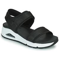 Schuhe Damen Sandalen / Sandaletten Skechers UNO Schwarz