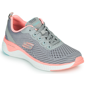 Schuhe Damen Fitness / Training Skechers SOLAR FUSE COSMIC VIEW Grau / Rose