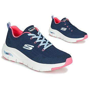 Schuhe Damen Sneaker Low Skechers ARCH FIT Marine / Rose