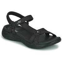 Schuhe Damen Sportliche Sandalen Skechers ON THE GO 600 Schwarz