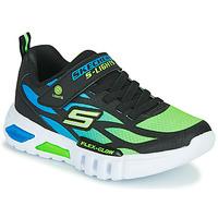 Schuhe Jungen Sneaker Low Skechers FLEX-GLOW Schwarz / Blau / Grün
