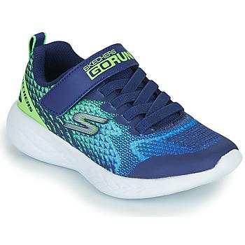 Schuhe Jungen Sneaker Low Skechers GO RUN 600 Blau / Grün