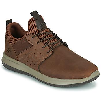 Schuhe Herren Sneaker Low Skechers DELSON AXTON Braun