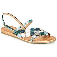 Schuhe Damen Sandalen / Sandaletten Les Tropéziennes par M Belarbi HOLO Silbern / Blau