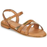Schuhe Damen Sandalen / Sandaletten Les Tropéziennes par M Belarbi HEXANE Braun / Gold
