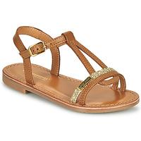 Schuhe Mädchen Sandalen / Sandaletten Les Tropéziennes par M Belarbi BADA Honig / Goldfarben