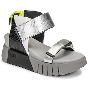 Schuhe Damen Sandalen / Sandaletten United nude DELTA RUN Schwarz / Silbern