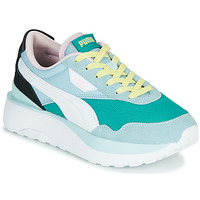 Schuhe Damen Sneaker Low Puma CRUISE RIDER SILK Blau / Weiss / Schwarz