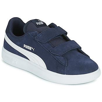 Schuhe Jungen Sneaker Low Puma SMASH PS Blau
