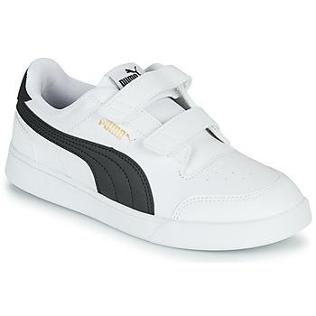 Schuhe Kinder Sneaker Low Puma SHUFFLE PS Weiss / Schwarz