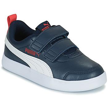 Schuhe Jungen Sneaker Low Puma COURTFLEX PS Schwarz