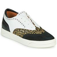 Schuhe Damen Sneaker Low Mam'Zelle ALIBI Weiss / Gold