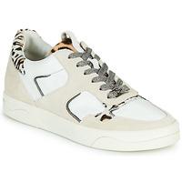 Schuhe Damen Sneaker Low Mam'Zelle ARTIX Weiss / Leopard