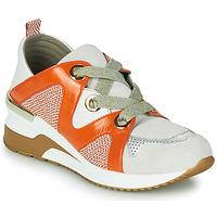 Schuhe Damen Sneaker Low Mam'Zelle VELODE Beige / Orange