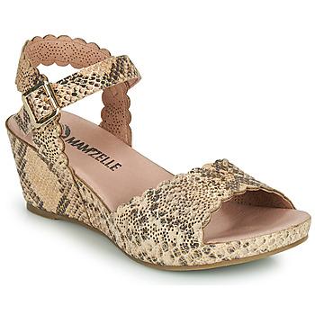 Schuhe Damen Sandalen / Sandaletten Mam'Zelle DOUGA Beige