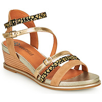 Schuhe Damen Sandalen / Sandaletten Mam'Zelle NAGA Beige / Orange
