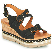 Schuhe Damen Sandalen / Sandaletten Mam'Zelle PAPOTE Schwarz
