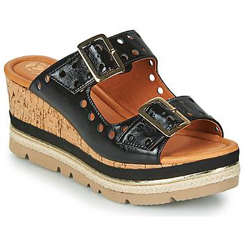 Schuhe Damen Pantoffel Mam'Zelle PULSE Schwarz