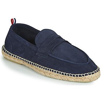 Schuhe Herren Leinen-Pantoletten mit gefloch 1789 Cala MARINA LEATHER Blau