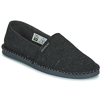 Schuhe Leinen-Pantoletten mit gefloch Havaianas ESPADRILLE ECO Schwarz