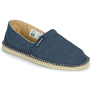 Schuhe Leinen-Pantoletten mit gefloch Havaianas ESPADRILLE ECO Blau
