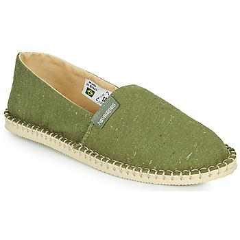 Schuhe Leinen-Pantoletten mit gefloch Havaianas ESPADRILLE ECO Grün