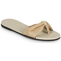 Schuhe Damen Zehensandalen Havaianas YOU ST TROPEZ SHINE Beige