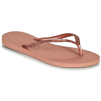 Schuhe Damen Zehensandalen Havaianas SLIM GLITTER II Rose