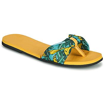 Schuhe Damen Zehensandalen Havaianas YOU SAINT TROPEZ Gelb / Gold