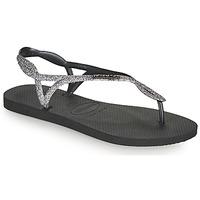 Schuhe Damen Zehensandalen Havaianas LUNA PREMIUM II Schwarz / Grau